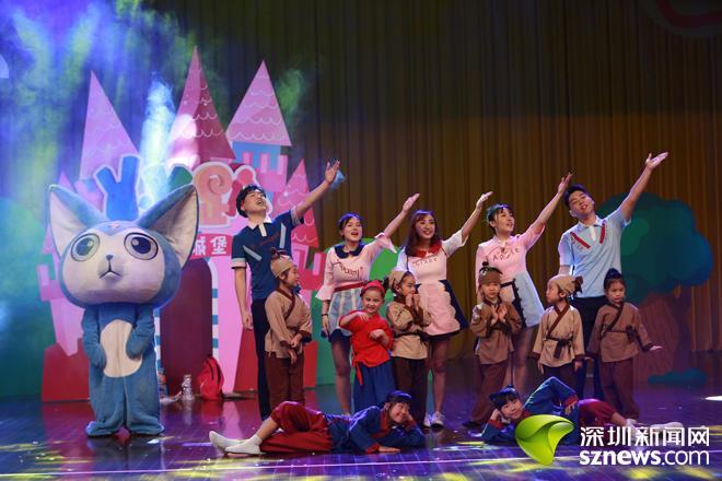 原创儿童舞台剧《传统节日大作战》在盐田会堂精彩上演