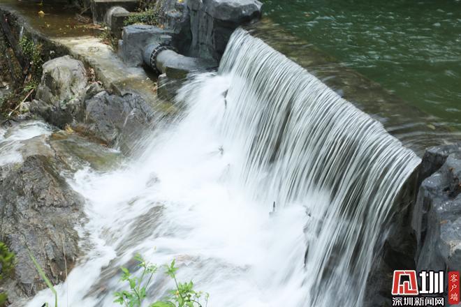 盐田半山公园带建设如火如荼 老虎涧公园瀑布景观初现雏形