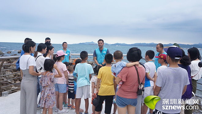 梅沙街道滨海社区开展滨海一线自然课堂活动