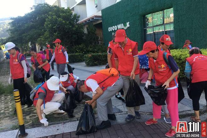 百名志愿者参与大梅沙社区环境整治